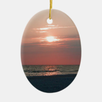 ornament with photo of beautiful sunset