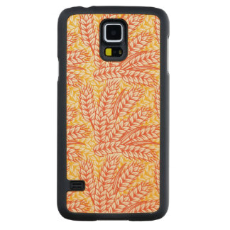 Ornament with wheat ears carved maple galaxy s5 case