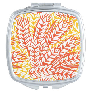 Ornament with wheat ears compact mirror