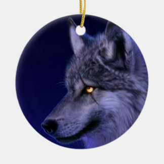 Ornament: Wolf Head Christmas Ornament