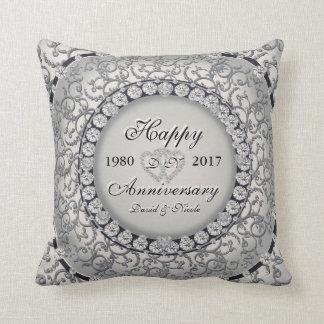 Ornamental Anniversary Custom Monogram Cushion
