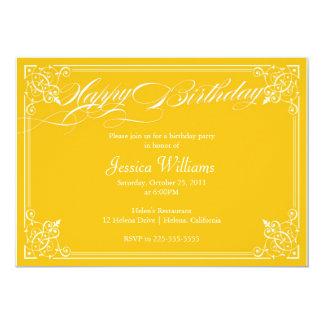 Ornamental Birthday Party 13 Cm X 18 Cm Invitation Card