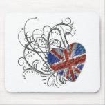 Ornamental British Flag Mousepads