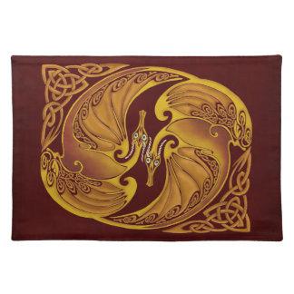 Ornamental Celtic Dragons Placemat