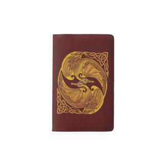 Ornamental Celtic Dragons Pocket Moleskine Notebook