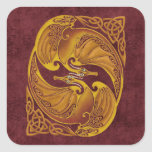 Ornamental Celtic Dragons Stickers