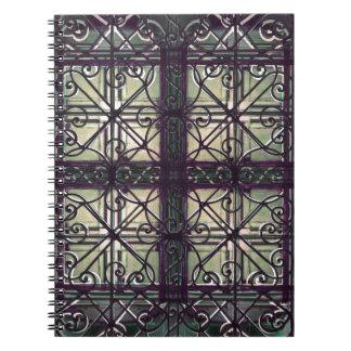 Ornamental decorative spiral note book