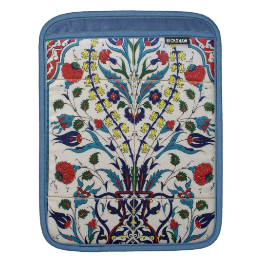 Ornamental  design on a Turkish tile Ottoman era iPad Sleeve
