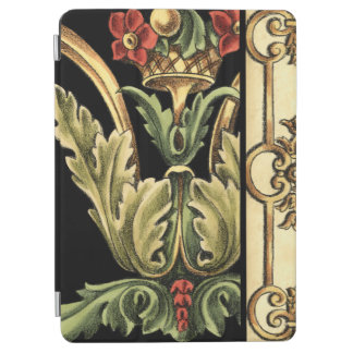 Ornamental Floral Design with Black Borders iPad Air Cover