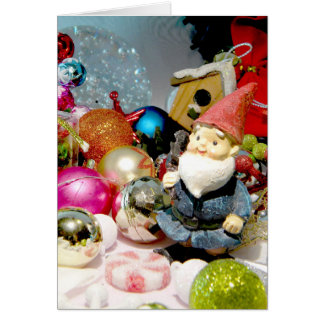 Ornamental Gnome Card