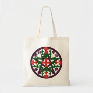 ORNAMENTAL GRAPE MEDIVAL PENTACLE TOTE BAG
