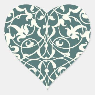 Ornamental Heart Heart Sticker