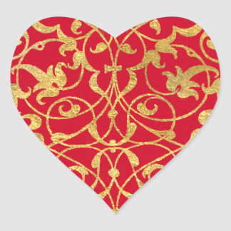 Ornamental Heart Heart Sticker