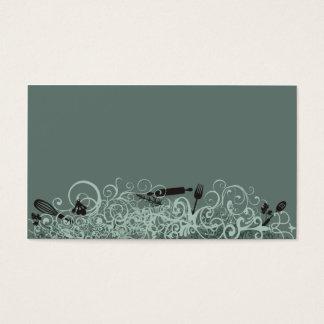 ornamental kitchen utensils business card green
