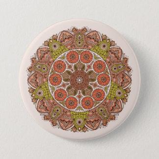 Ornamental Lace 7.5 Cm Round Badge