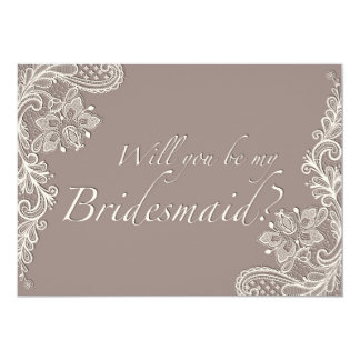 Ornamental Lace - Bridesmaid Invitation