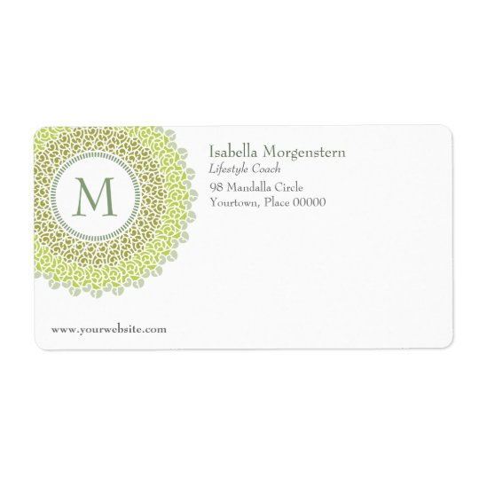 Ornamental Monogram Shipping Label