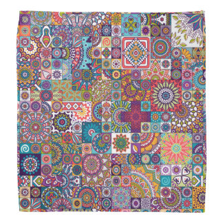 Ornamental Mosaic Background Bandana