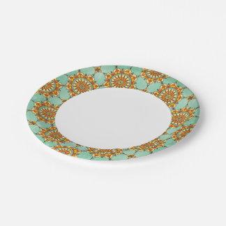 Ornamental pattern 7 inch paper plate