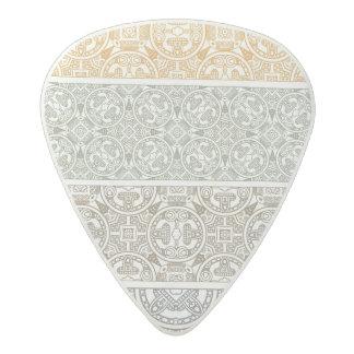 Ornamental pattern acetal guitar pick