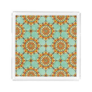 Ornamental pattern acrylic tray