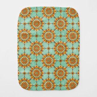 Ornamental pattern burp cloth