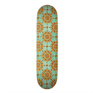 Ornamental pattern skateboard deck
