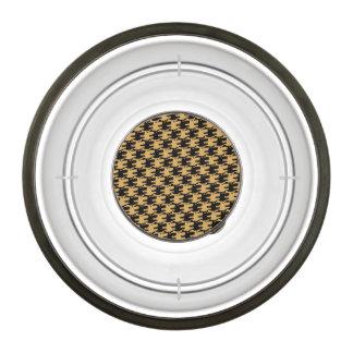 ornamental pattern wolf indomitable pet bowl