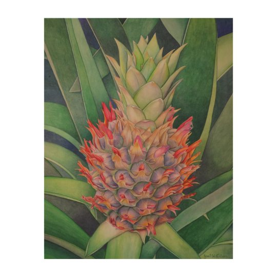 Ornamental Pineapple Wood Canvases