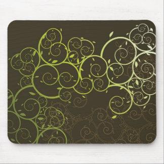 Ornamental Spiral Vine / Pattern Modern Mousepad