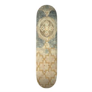 Ornamental Tapestry with Ornate Geometric Design 21.6 Cm Skateboard Deck