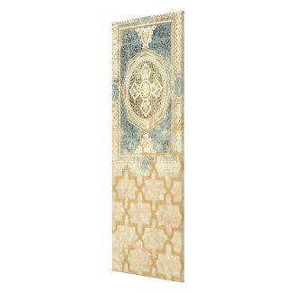 Ornamental Tapestry with Ornate Geometric Design Canvas Print