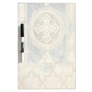 Ornamental Tapestry with Ornate Geometric Design Dry Erase Board