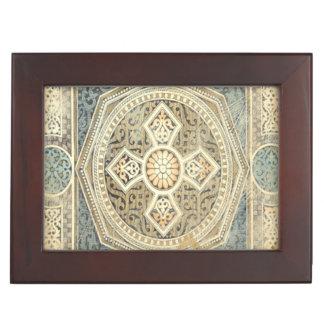 Ornamental Tapestry with Ornate Geometric Design Keepsake Box