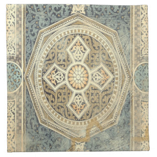 Ornamental Tapestry with Ornate Geometric Design Napkin