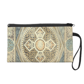 Ornamental Tapestry with Ornate Geometric Design Wristlets