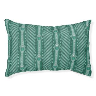 Ornamental Teal Pattern Pet Bed