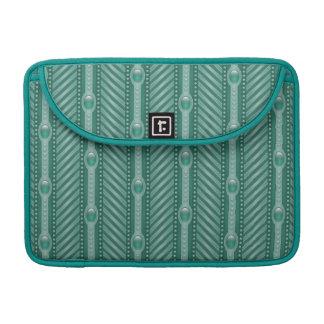 Ornamental Teal Pattern Sleeve For MacBooks