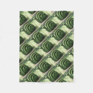 Ornamental topiary green garden snail bush fleece blanket