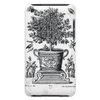 Ornamental tree in an urn on a small stage (engrav iPod touch cover