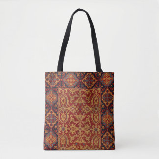 Ornamental Turkish Carpet Tote