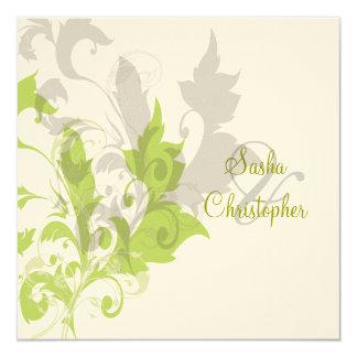 Ornamental vine/green/chocolate card