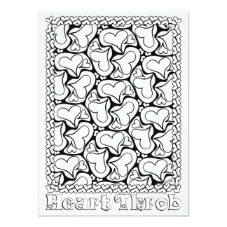 OrnaMENTALs Heart Throb Color Your Own Card