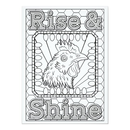 OrnaMENTALs Rise & Shine Chicken Colour Your Own Card