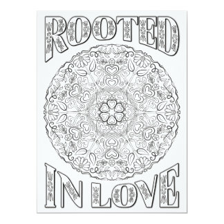 OrnaMENTALs Rooted in Love Mandala Color Your Own 17 Cm X 22 Cm Invitation Card