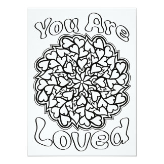 OrnaMENTALs You are Loved Color Your Own 14 Cm X 19 Cm Invitation Card