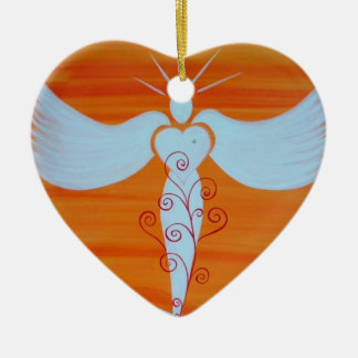 "Ornamentation ""angel for soul partners "" christmas ornament"