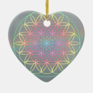 "Ornamentation ~ Heart~Energy ""Flower OF Life "" Christmas Ornament"