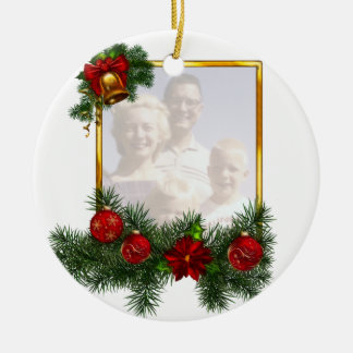 Ornamented Christmas Picture Frame Ornament