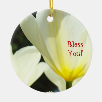 Ornaments Bless You Holiday Tree Ornament Tulips